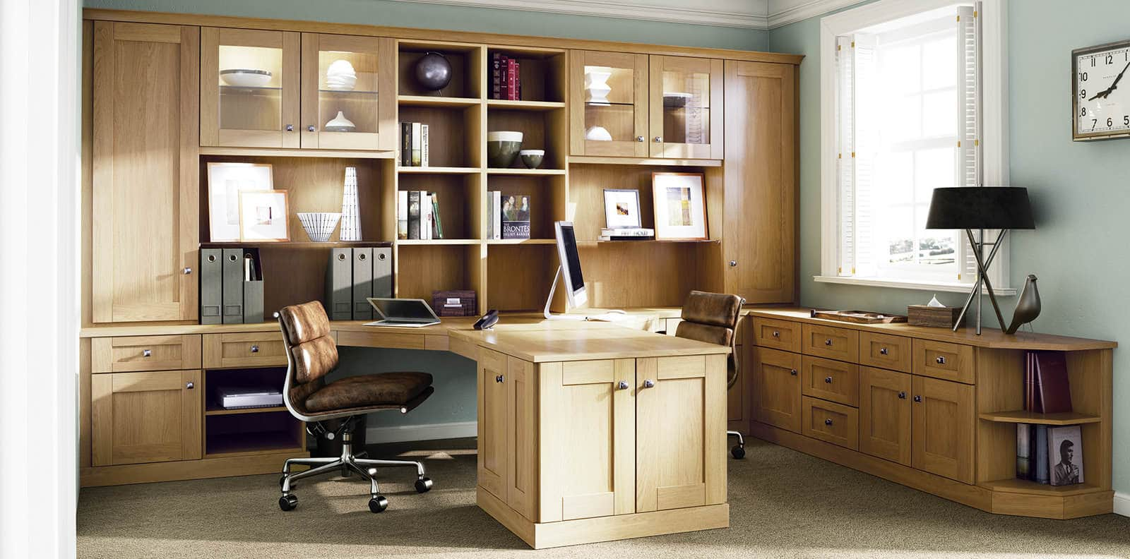 Classic verona english oak home office by strachan for Office arrangements small offices