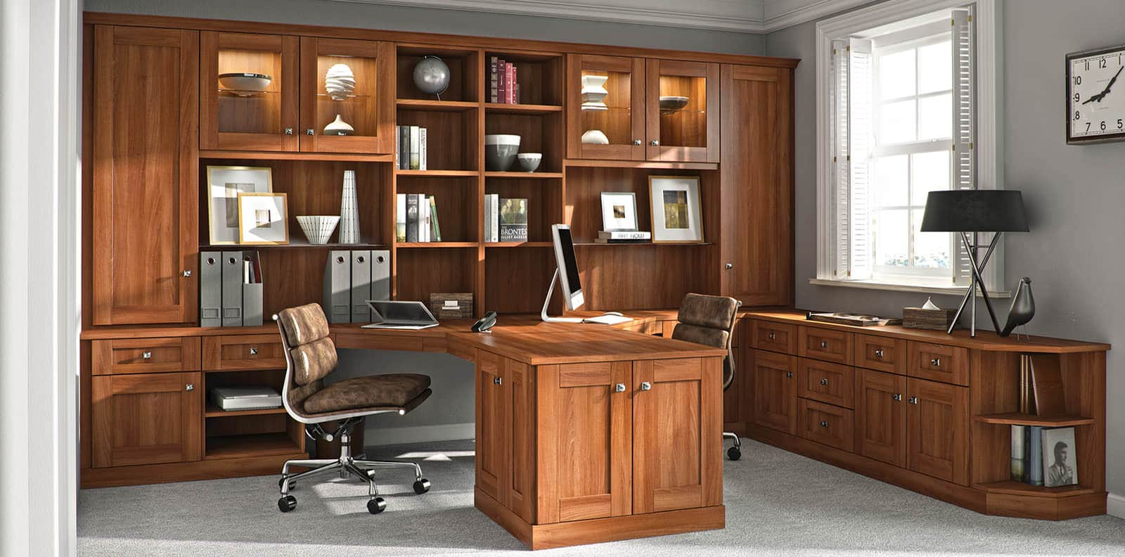 Home office in Uno Walnut