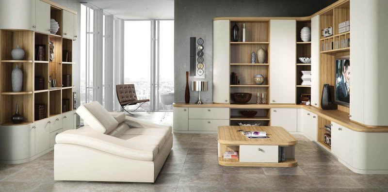 Fitted lounge in optima and soft white