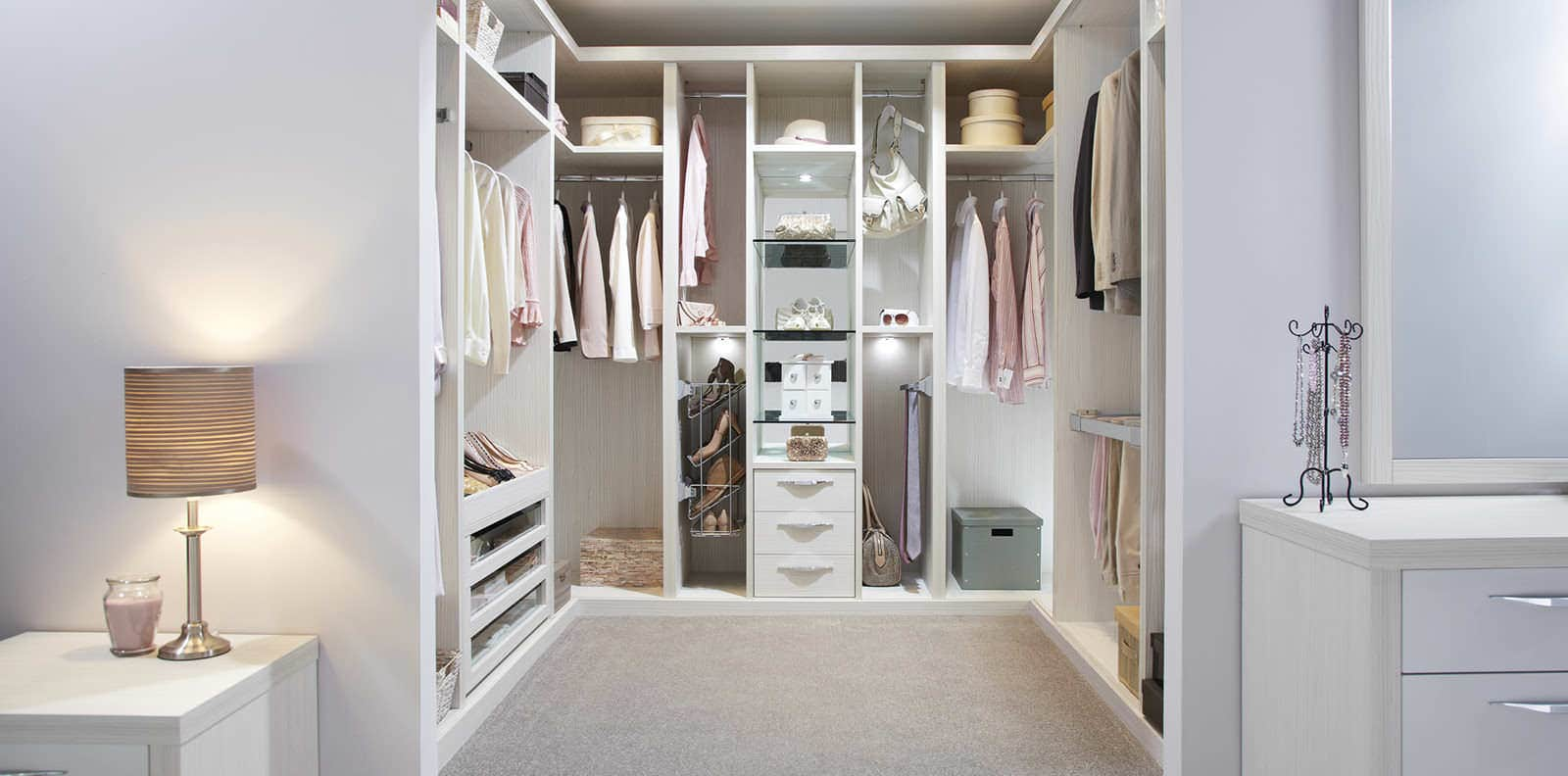 Ultimo pearl contemporary walk in wardrobes by strachan for Walk in wardrobe fittings