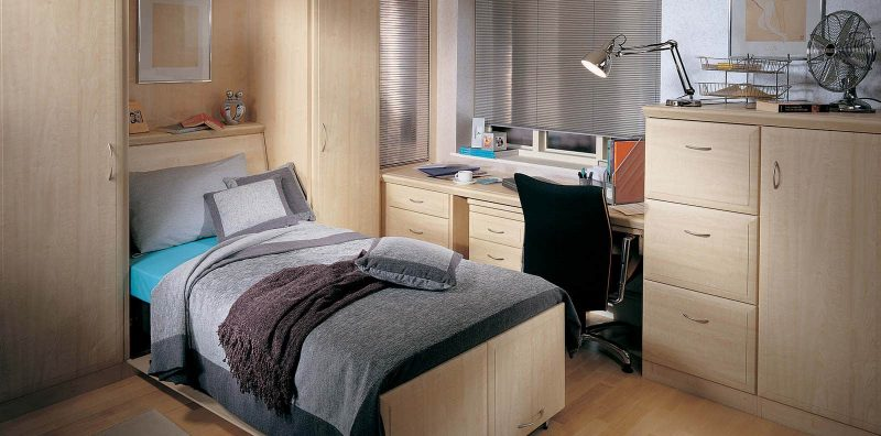 Contemporary alto maple study bedroom by strachan for Beds january sales