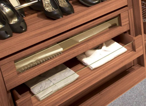 Glass fronted drawers