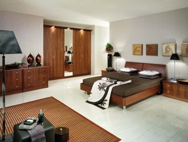 Fitted bedroom in American Black Walnut