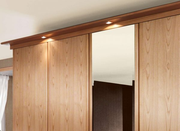 Integral LED lighting for fitted wardrobes