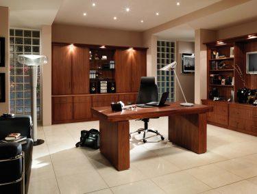 Home office in American Black Walnut