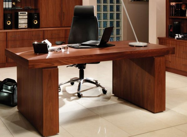 Statement desk in American Black Walnut