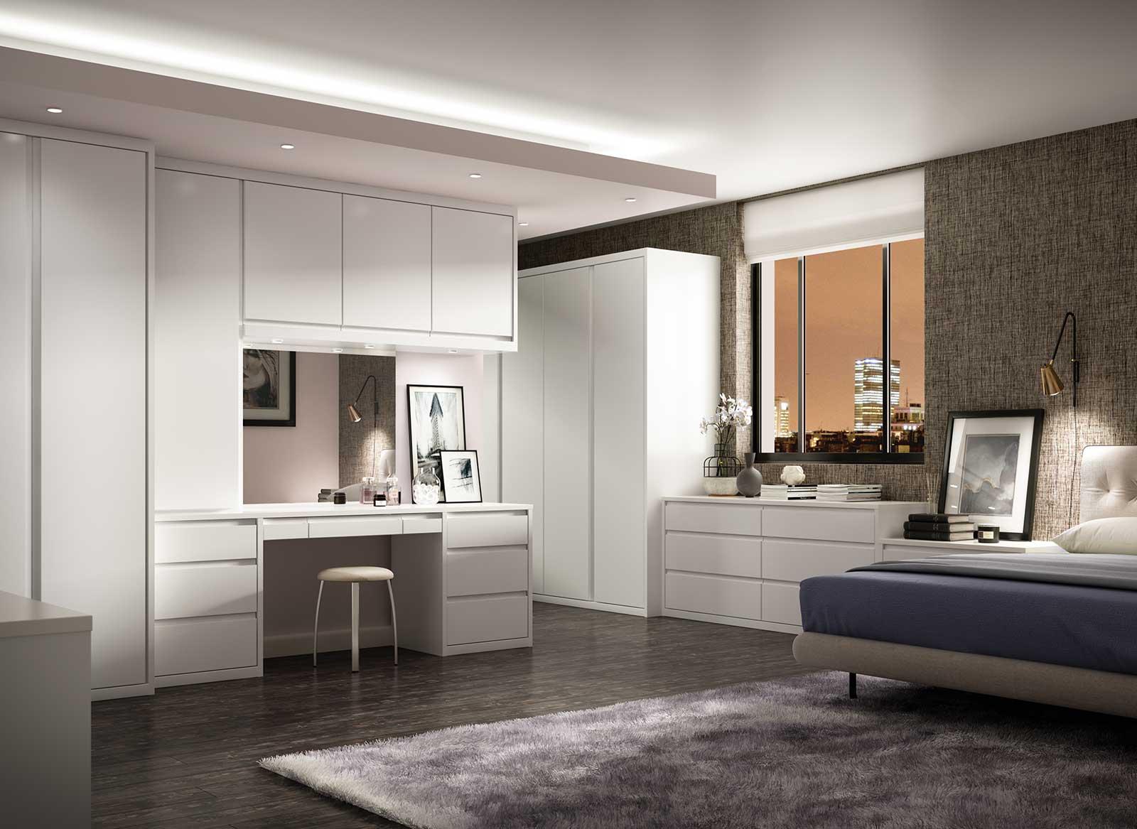 Solo Bedroom in Dove Whitea