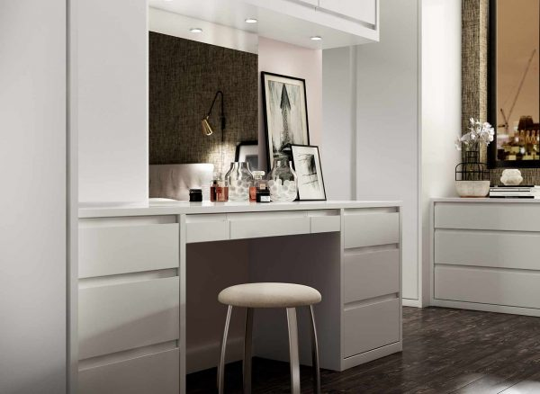 Illuminated dressing table area