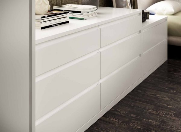 Split level bedside cabinets