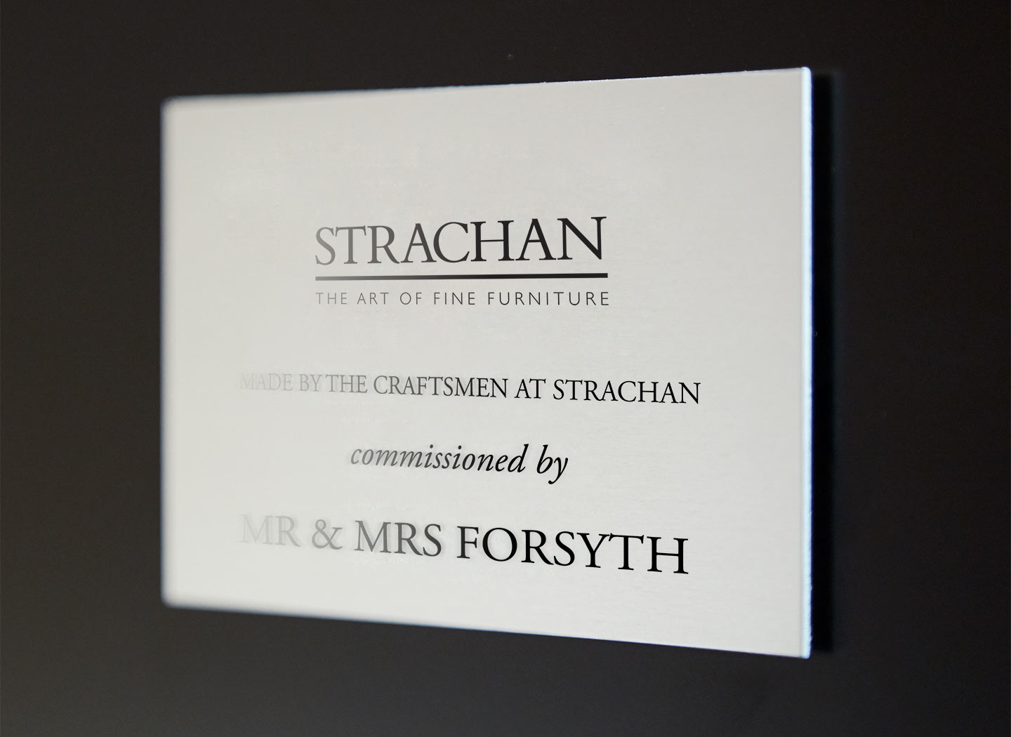 Quality to be proud of - The Strachan seal of approval