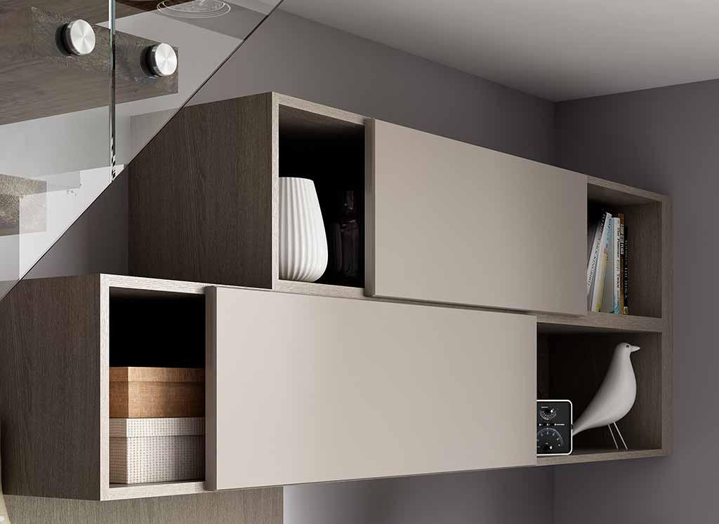 Home office sliding cupboard doors