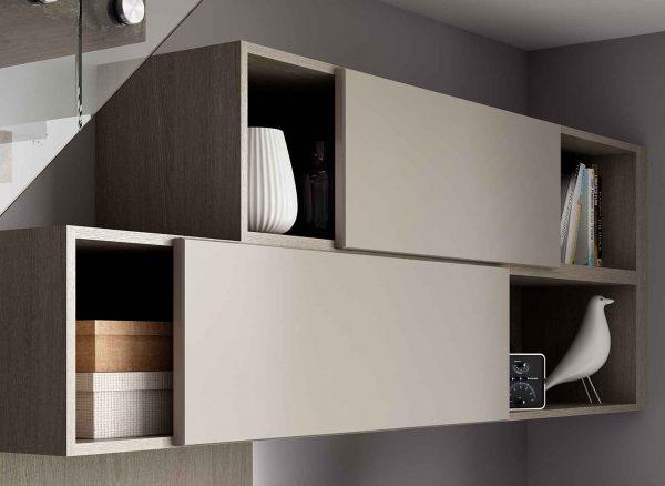 Adjustable floating cupboards
