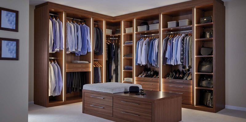 Ultimo Dressing Room in American Black Walnut