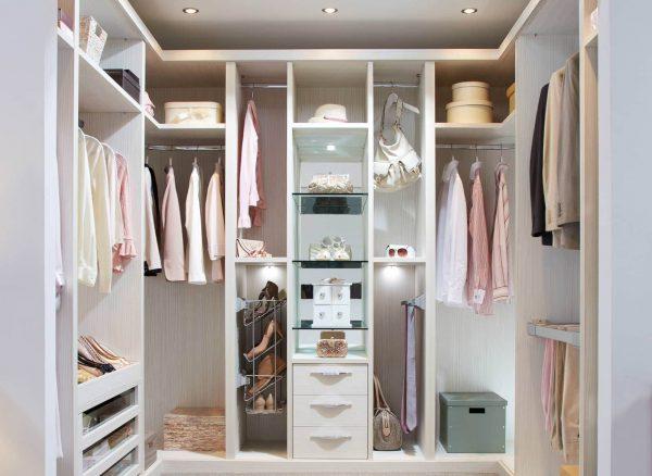 Fitted walk in wardrobe