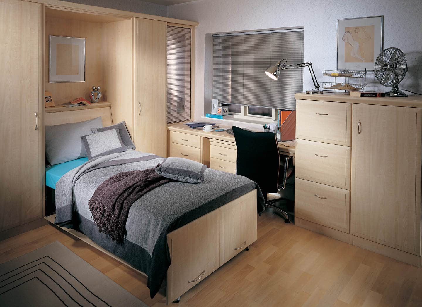 Contemporary folding wall beds from strachan maple wall bed fully extended amipublicfo Choice Image