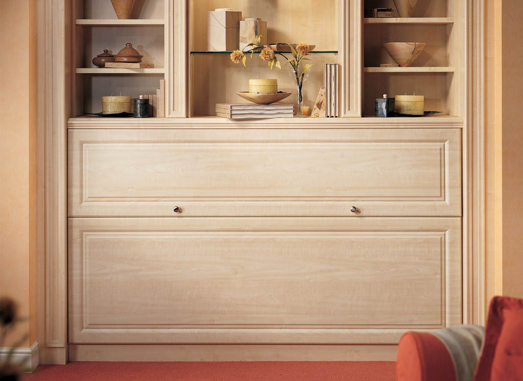 New England Maple Side Fold Wall Bed By Strachan