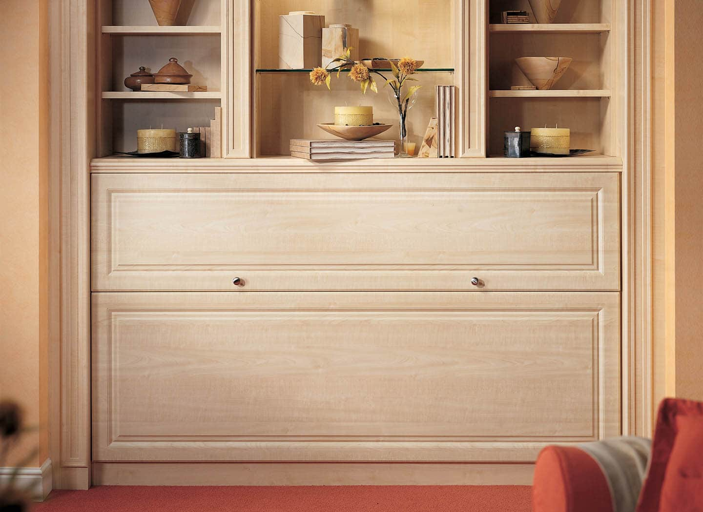 home office murphy bed. Fitted Single Wall Bed In Maple Home Office Murphy O