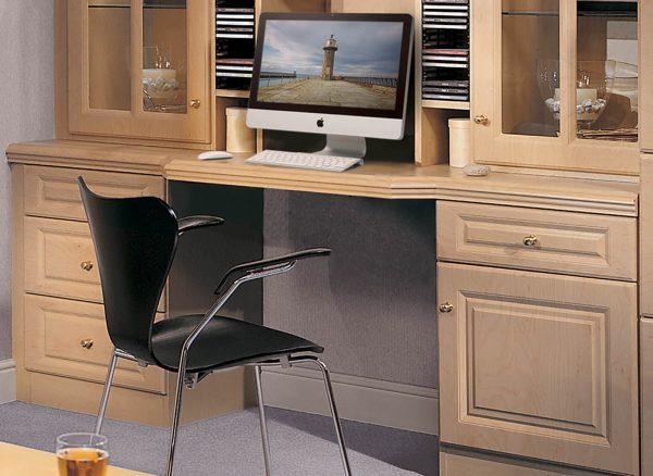 Bespoke desk with customised storage options